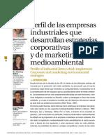 PERFIL DE EMPRESAS CON MARKETING AMBIENTAL