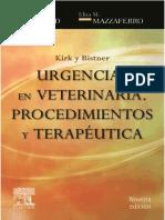Kirk y Bistner. Urgencias en veterinaria Procedimientos y terapéutica 9th Edición-1