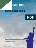 (Petite bibliothèque classique de la liberté) John Stuart Mill-Sur le socialisme