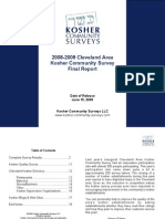 2008-09 Cleveland Kosher Community Survey - Final Survey Report
