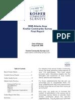 2008 Atlanta Area Kosher Community Survey - Final Survey Report