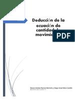 Deducción de la ecuación de cantidad de movimiento