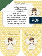 Kit Primera Comunión Nena-7 Amarillo