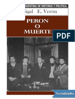 01 Sigal Silvia & Verón Eliseo - Perón o Muerte. LEER INTRODUCCIÓN p.1, y EL MODELO DE LLEGADA p.19.pdf