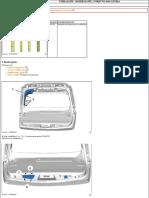 P508SW rozbrajanie klapy bagażnika
