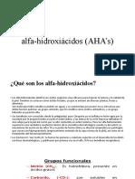 alfa-hidroxiácidos (AHA's)