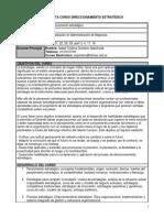 PLANEACION CURSO DIRECCIONAMIENTO ESTRATEGICO USB 2019