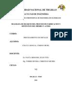 DIAGRAMA DE BLOQUES DEL HIERRO Y ACERO