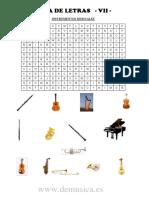 Sopa de Letras VII. Instrumentos Musicales