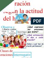 LA ORACIÓN SEGÚN LA ACTITUD DEL HABLANTE.pptx