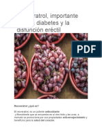 Resveratrol, importante para la diabetes y la disfunción eréctil