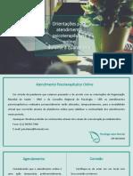 Orientações para atendimento psicoteratêutico online na quarentena