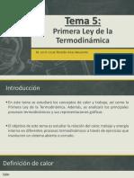 Tema 5-Primera Ley de la Termodinámica