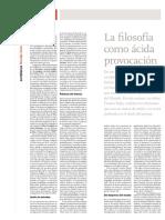 La filosofía como ácida provocación - Franco Volpi