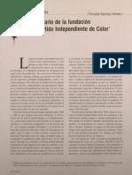 centenario de la fundacion del Partido Independiente de color