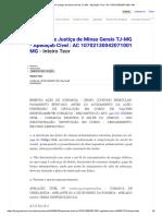 Tribunal de Justiça de Minas Gerais TJ-MG - Apelação Cível _ AC 10702130042071001 MG