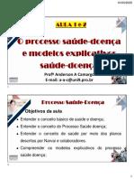 AULA 1 e 2 - O Processo saúde-doença e modelos explicativos saúde-doença