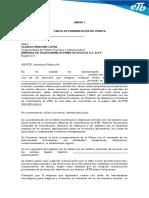 CARTA DE PRESENTACION OFERTA ETB