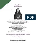 Novena Prayer to Sr. Josefa Menendez