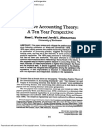Positive Accounting Theory A Ten Year Perspective. Watts, Ross L.; Zimmerman, Jerold L.