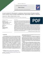 A novel method for fluorometric continuous measurement of β-glucuronidase (GUS) activity using 4-methyl-umbelliferyl-β-d-glucuronide (MUG) as substrate