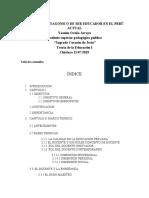 informe del rol protagónico del docente en la actualidad