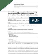 Xylene monooxygenase, a membrane-spanning