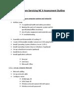 Computer System Servicing Assessment Outline