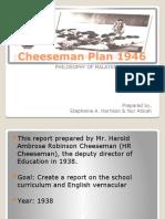 Cheesemen Plan 1946