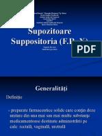 Supozitoare Suppositoria (F.R.X)