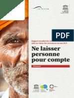 Rapport Mondial UNESCO - Ne Laisser Personne Pour Compte
