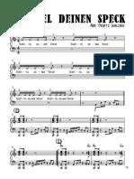 Schüttel deinen Speck - Klavier