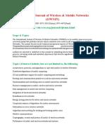 International Journal of Wireless Mobile Networks IJWMN