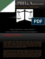 Company Profile LAwfirm PBH & Associates