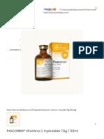PASCORBIN® Vitamina C Inyectable 7,5g _ 50ml - NaturalVitality
