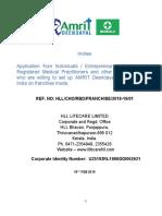 AMIRIT Deendayal Franchisee Application
