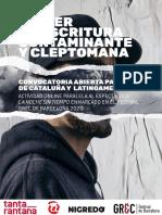 CONVOCATORIA DE DRAMATURGOS FESTIVAL TEATRE GREC 2020
