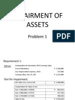 Problem 4 impairment of assets