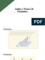 Pirâmides e Tronco de Pirâmides