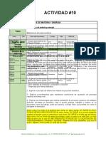 A#10_ Balances en procesos reactivos