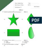 03 Understanding Quadrilaterals Test