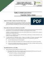 Ejemplo POLITICAS CONTABLES - PPyE