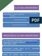 INDUCCIÓN A LA VIDA UNIVERSITARIA