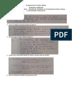 Evaluación Prueba Mixta - 3 Unidad