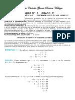 MATEMÁTICAS 9° - GUÍA 5