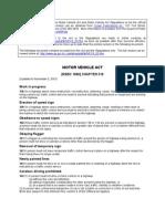 Motor Vehicle Act & Regs Excerpts