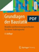 Grundlagen der Baustatik_ Modelle und Berechnungsmethoden für ebene Stabtragwerke (2016, Springer Vieweg)