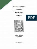 CIMAROSA, Domenico • Sonate BXII Allegro (edited by Gérard Reyne) (guitar music score)
