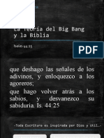 La Teoría del Big Bang y la Biblia