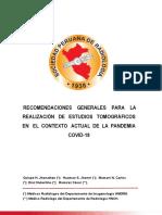Recomendaciones Para Estudios Tomograficos Covid-19 (Socpr)